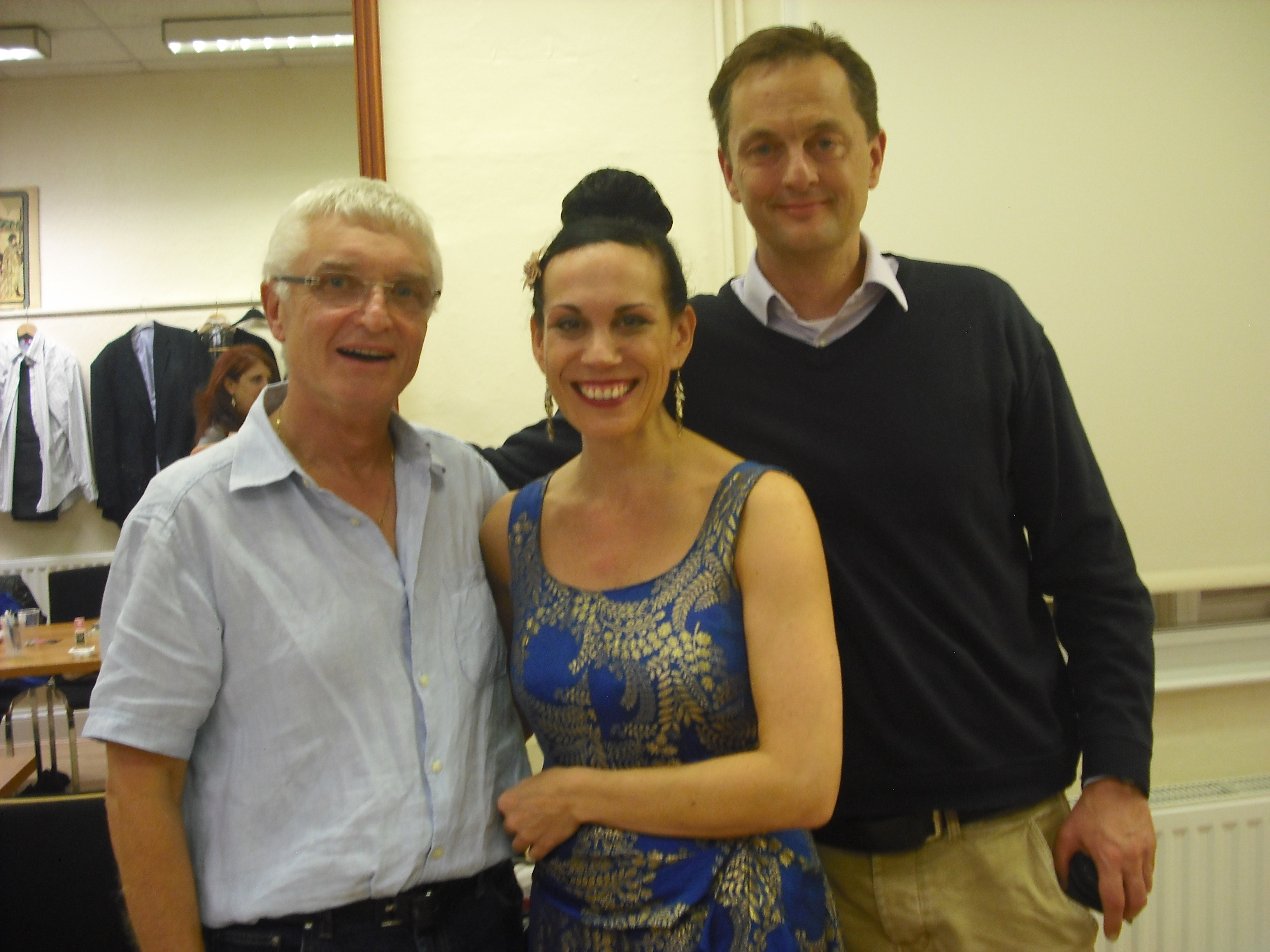 Marcus Lloyd with John Foreman and Christine Richardson